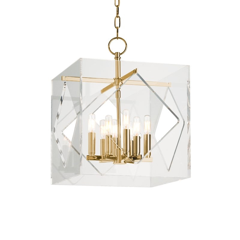 Hudson Valley Medium Aged Brass Travis Ceiling Pendant - Decolight Ltd