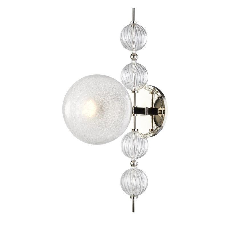 Hudson Valley Calypso Polished Nickel Wall Light - Decolight Ltd