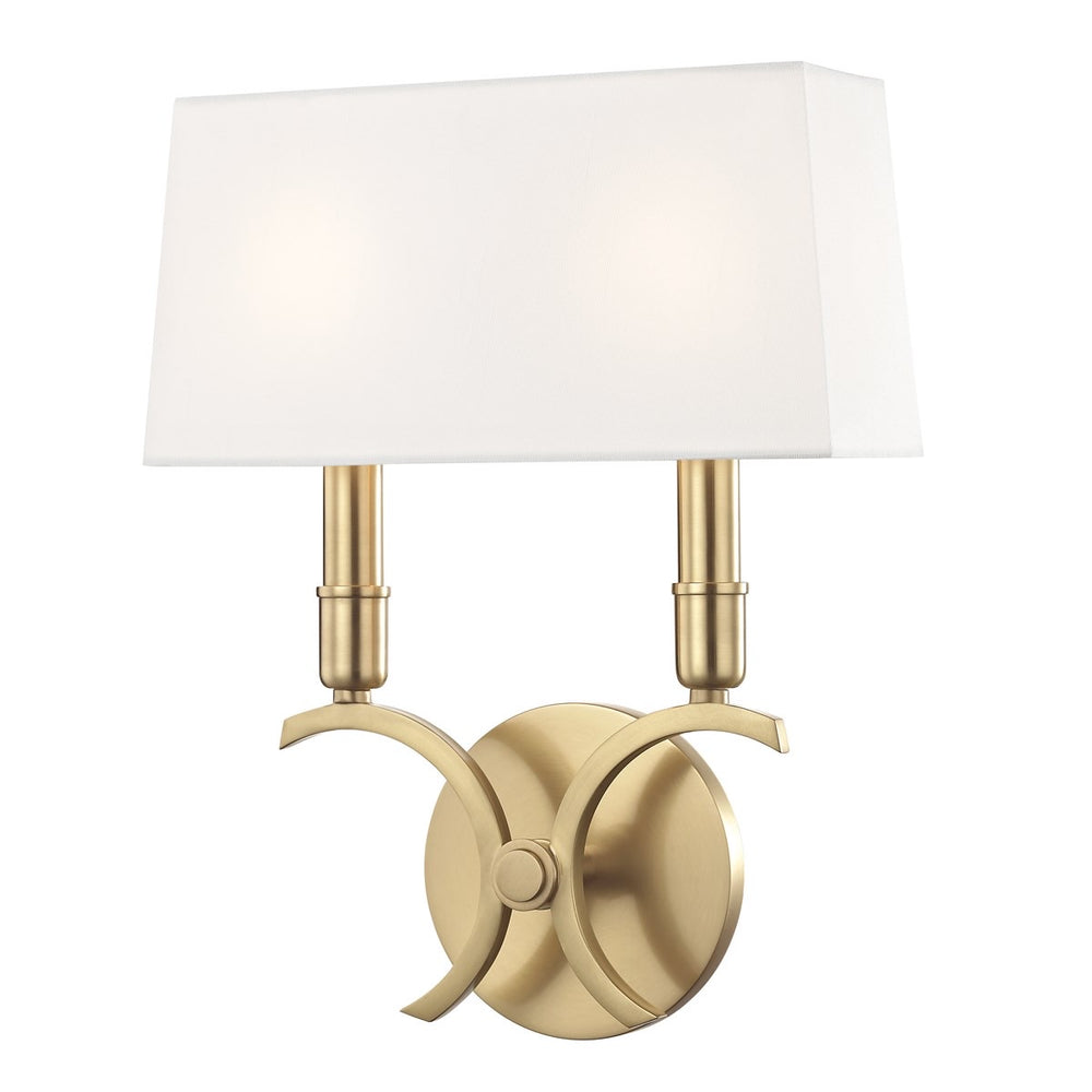 Mitzi Lighting Gwen Aged Brass Wall Light - Decolight Ltd