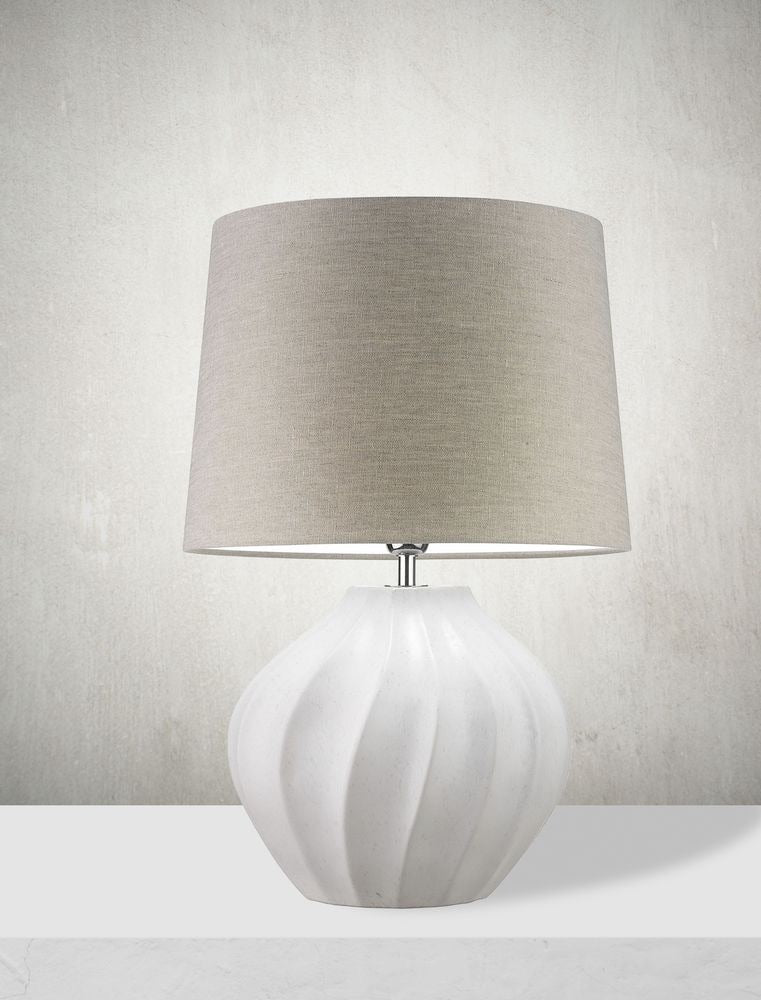 Heathfield & Co Frage Ivory Table Lamp - Decolight Ltd
