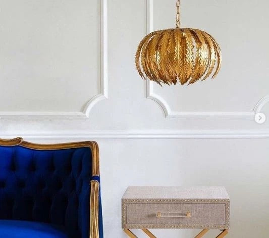 Decolight Ayda Gold Leaf Pendant Light - Decolight Ltd