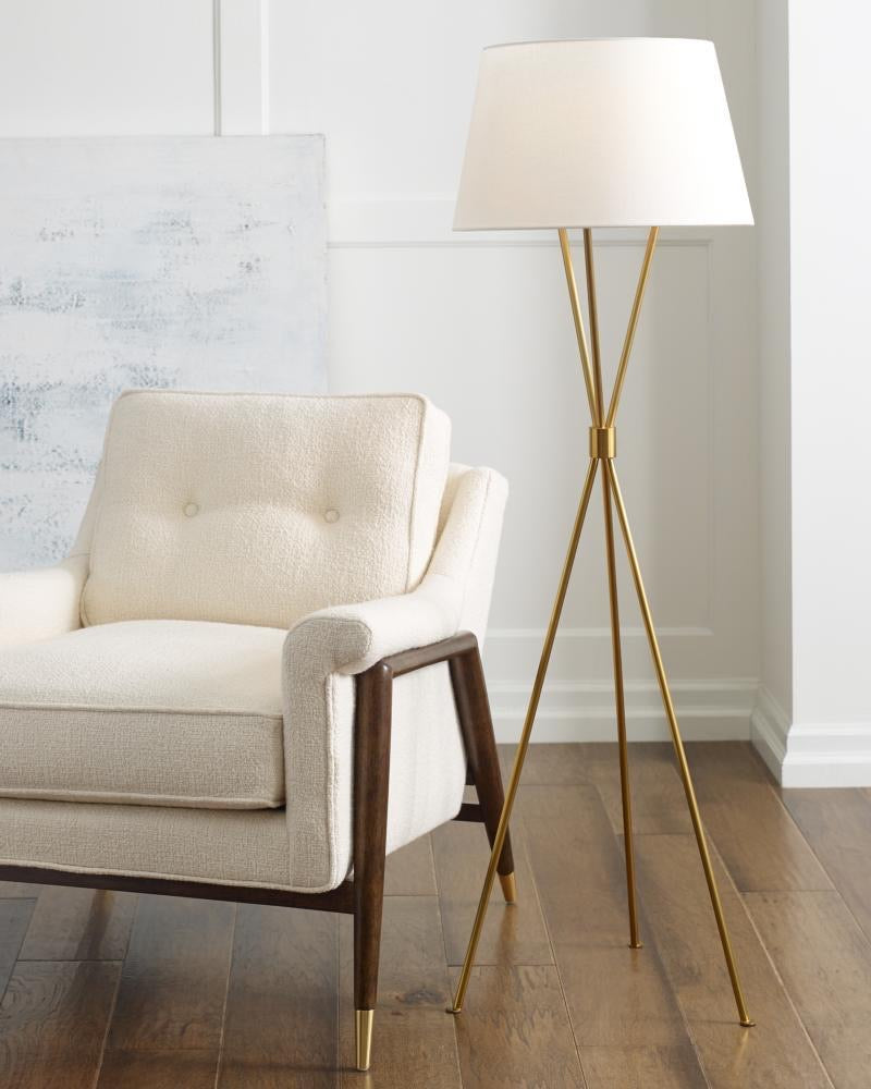 Decolight Penny Floor Lamp Burnished Brass