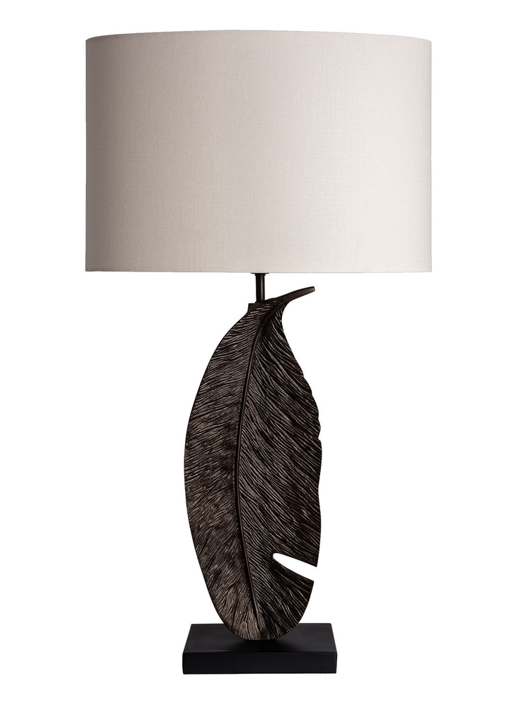 Heathfield & Co Leaf Bronze Table Lamp - Decolight Ltd