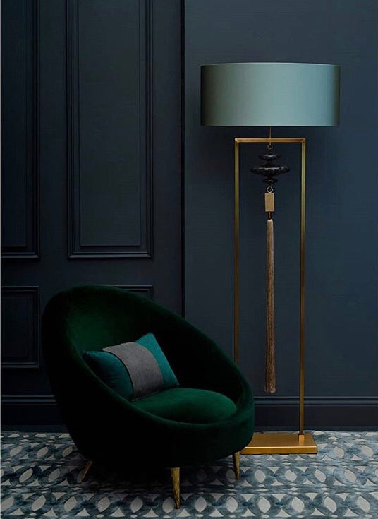 Heathfield Constance Antique Brass and Gold Floor Lamp