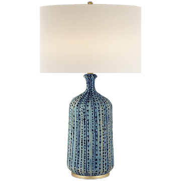 AERIN Culloden Blue Table Lamp Aquamarine