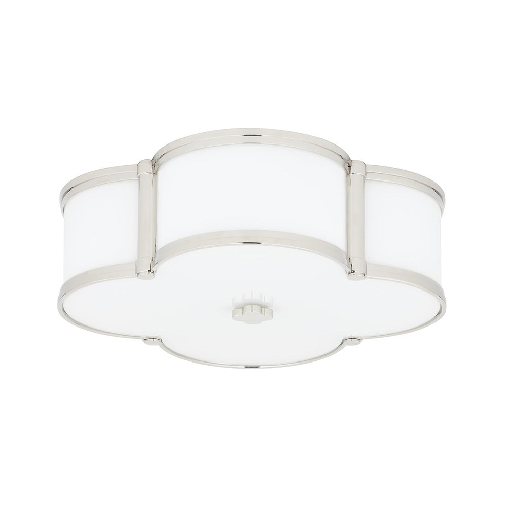 Hudson Valley Polished Nickel Chandler Flush Mount Ceiling Light - Decolight Ltd