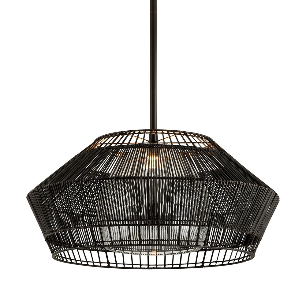 Troy Lighting Large Hunters Point Espresso Ceiling Light - Decolight Ltd