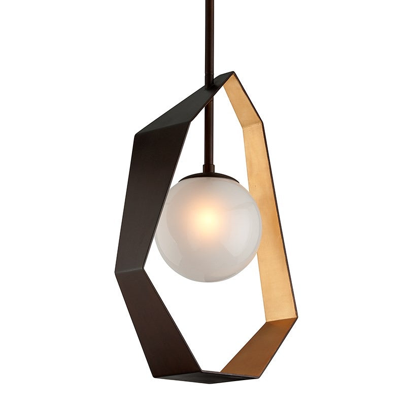 Troy Lighting Large Origami Bronze With Gold Leaf Ceiling Light - Decolight Ltd