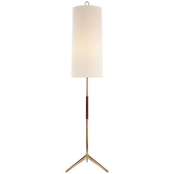 Aerin Frankfort Floor Lamp in Hand-Rubbed Antique Brass