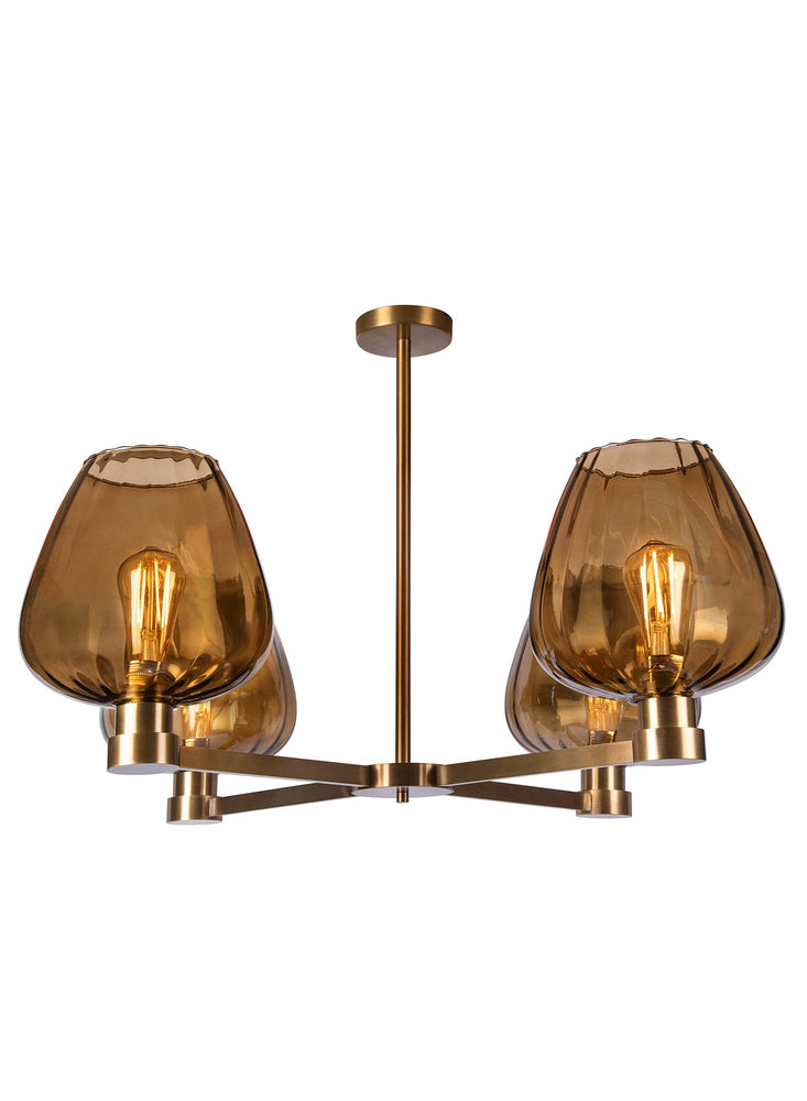 Heathfield & Co Giselle Amber Chandelier ( Ceiling Light ) - Decolight Ltd