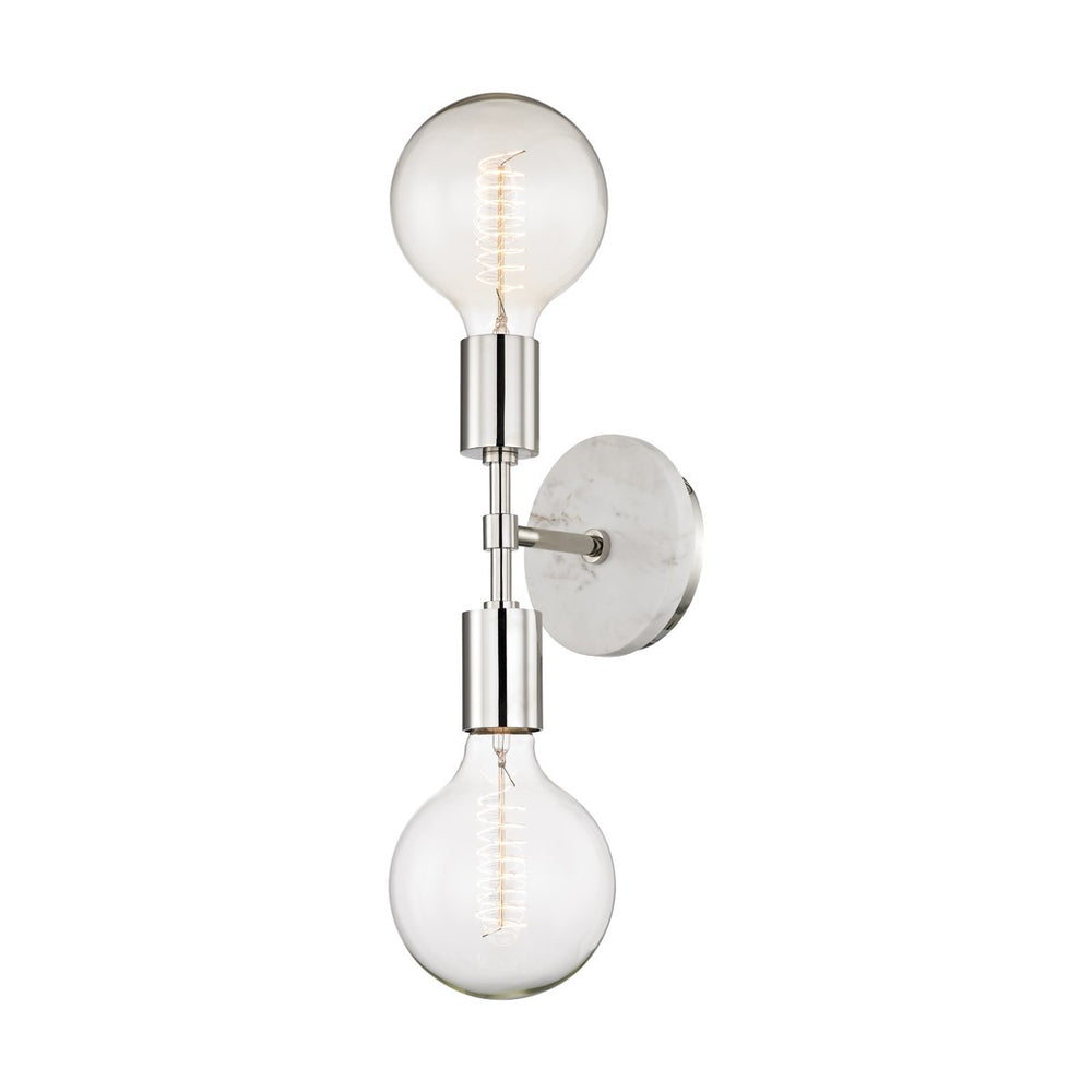 Mitzi Lighting Chloe Polished Nickel Wall Light - Decolight Ltd