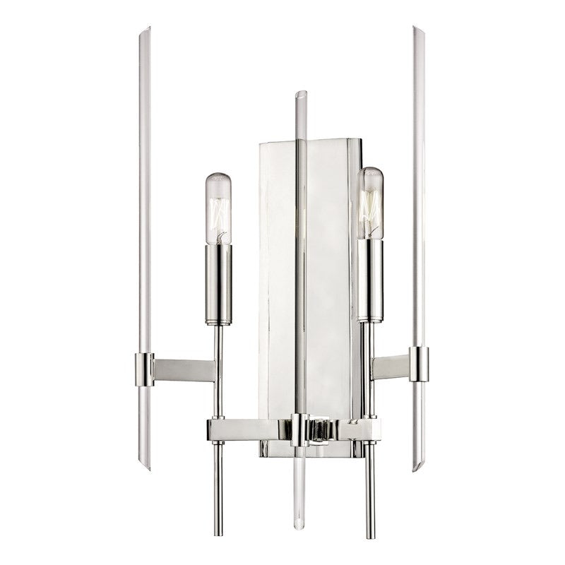 Hudson Valley Bari Polished Nickel Wall Light - Decolight Ltd