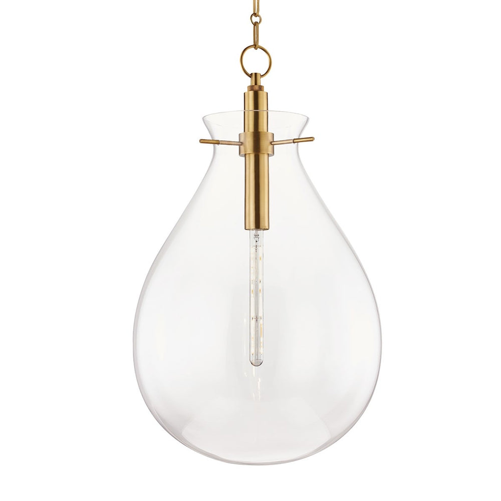 Hudson Valley Ivy Aged Brass Large Ceiling Pendant - Decolight Ltd