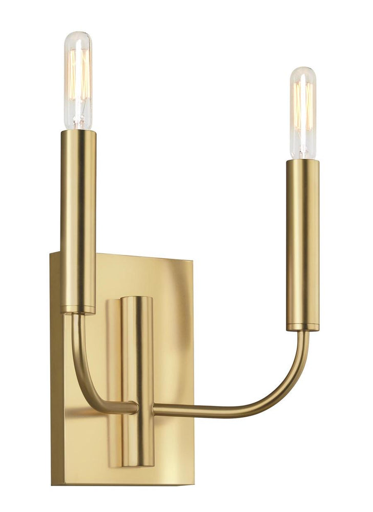 Decolight Astra  Burnished Brass Double Wall light - Sconce - Decolight Ltd