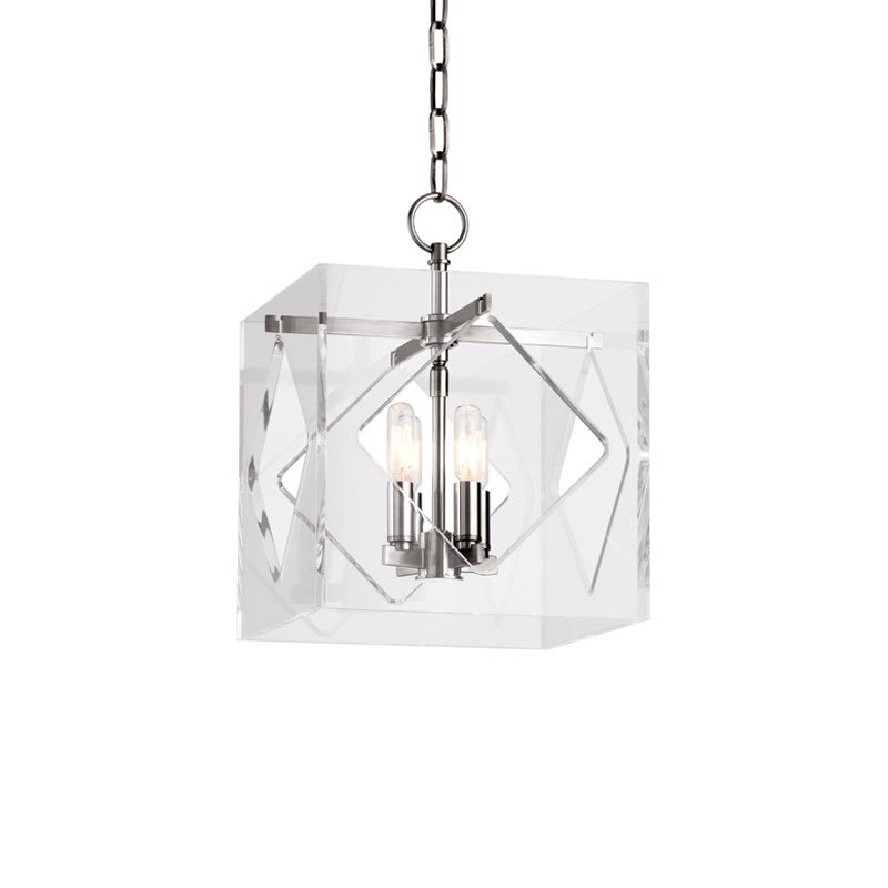 Hudson Valley Small Polished Nickel Travis Ceiling Pendant - Decolight Ltd