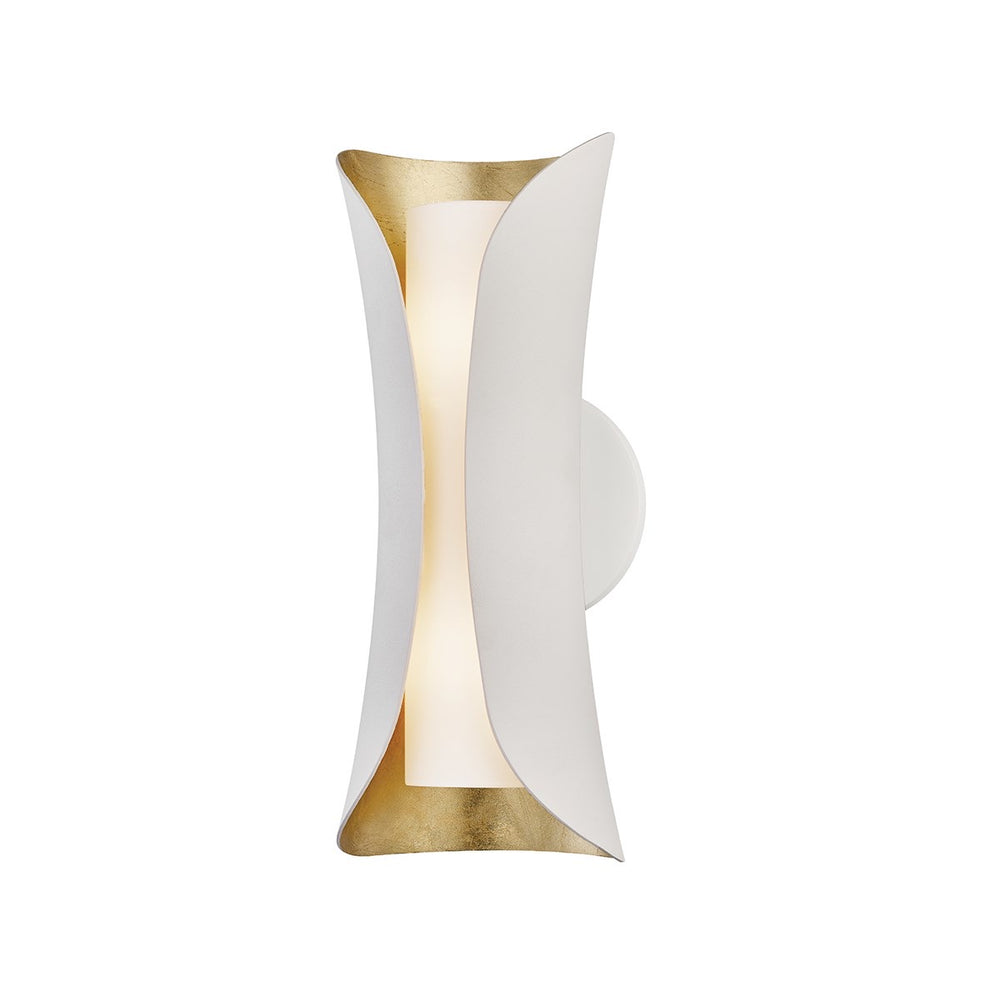 Mitzi Lighting Josie Gold Leaf/White Sconce Wall Light