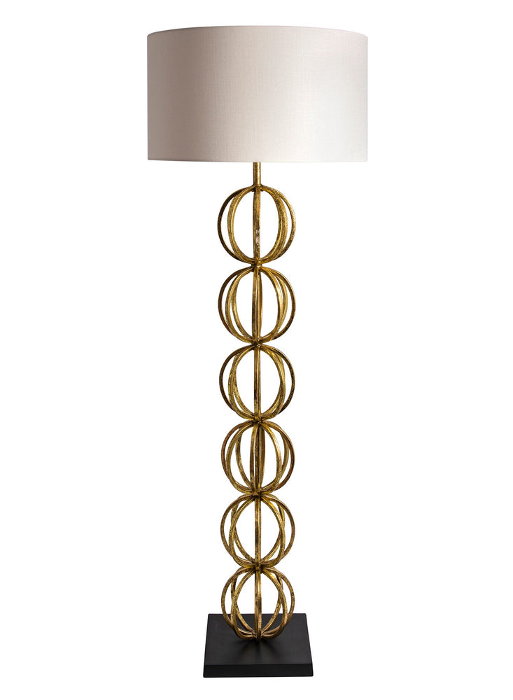 Heathfield & Co Rollo Antique Gold Floor Lamp - Decolight Ltd