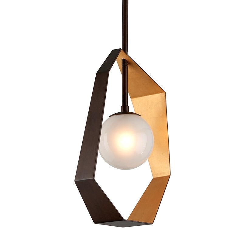 Troy Lighting Small Origami Bronze With Gold Leaf Ceiling Light - Decolight Ltd