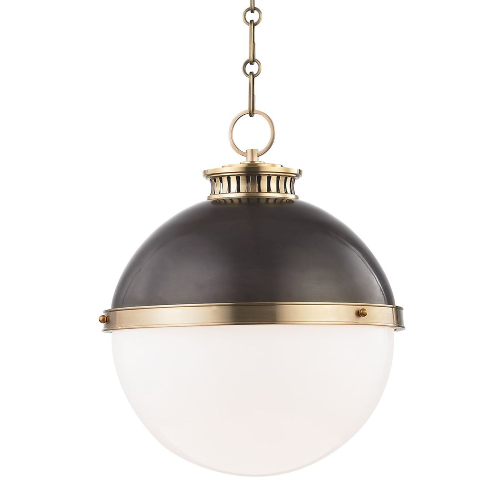 Hudson Valley Large Latham Aged/Antique Distressed Bronze Ceiling Pendant - Decolight Ltd