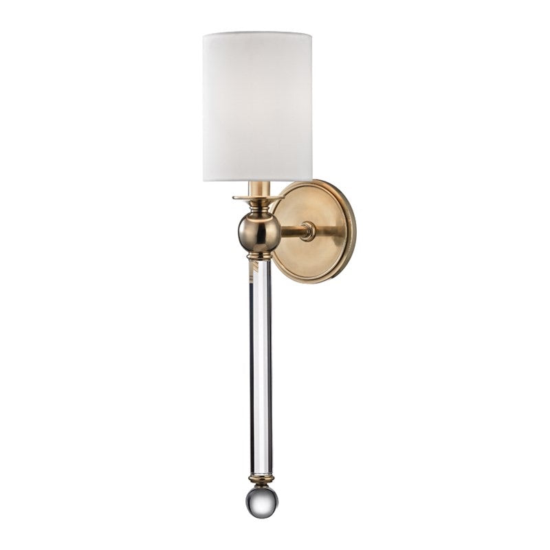 Hudson Valley Gordon Aged Brass Wall Light