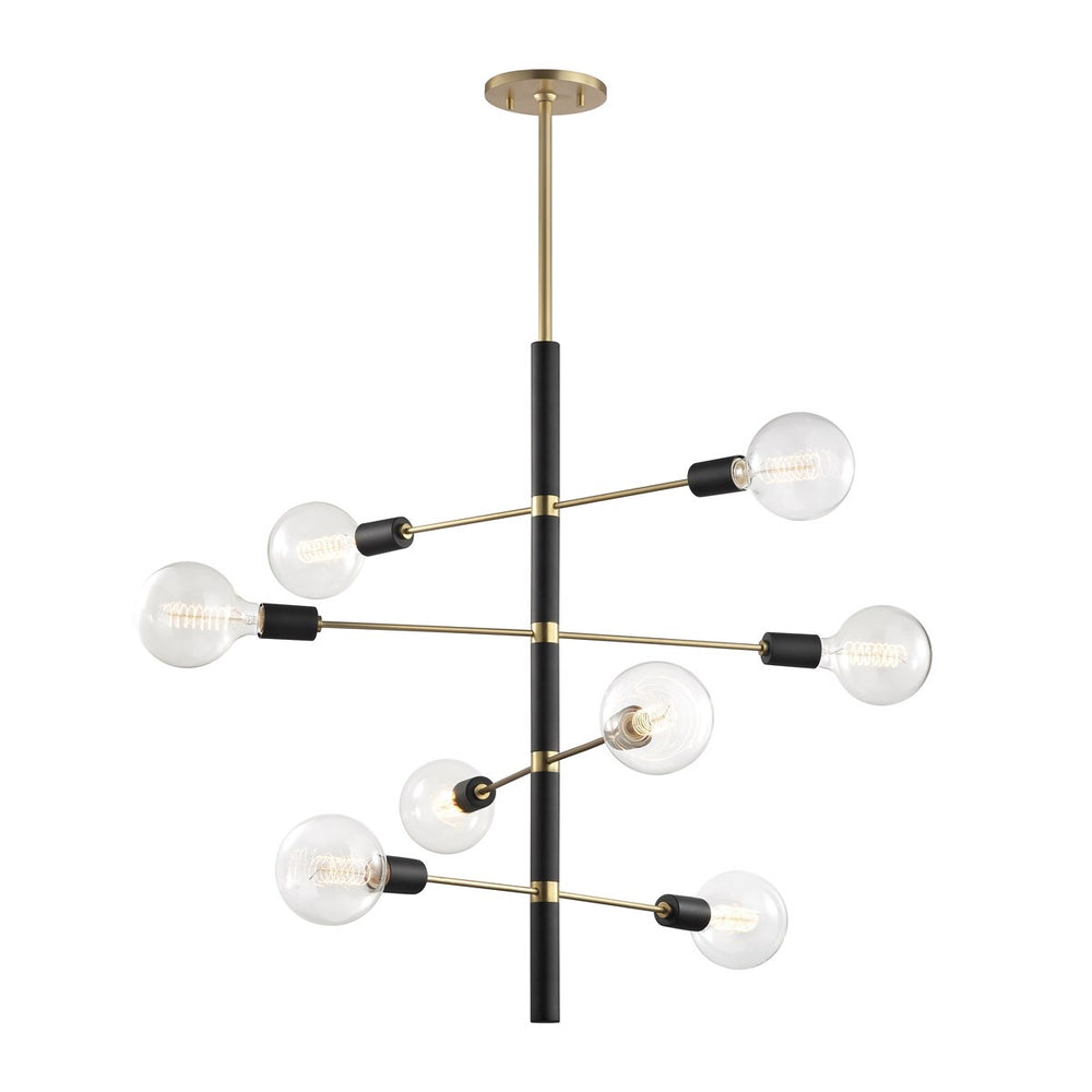 Mitzi Lighting Astrid 8lt Ceiling Lighting Aged Brass / Black - Decolight Ltd