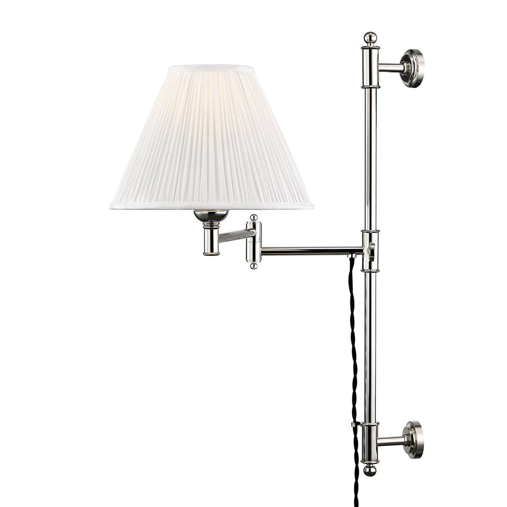 Hudson Valley Polished Nickel Classic No.1 Wall Scone - Decolight Ltd