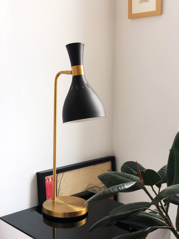 Decolight Joanna Black Mid Century Desk Lamp - Decolight Ltd
