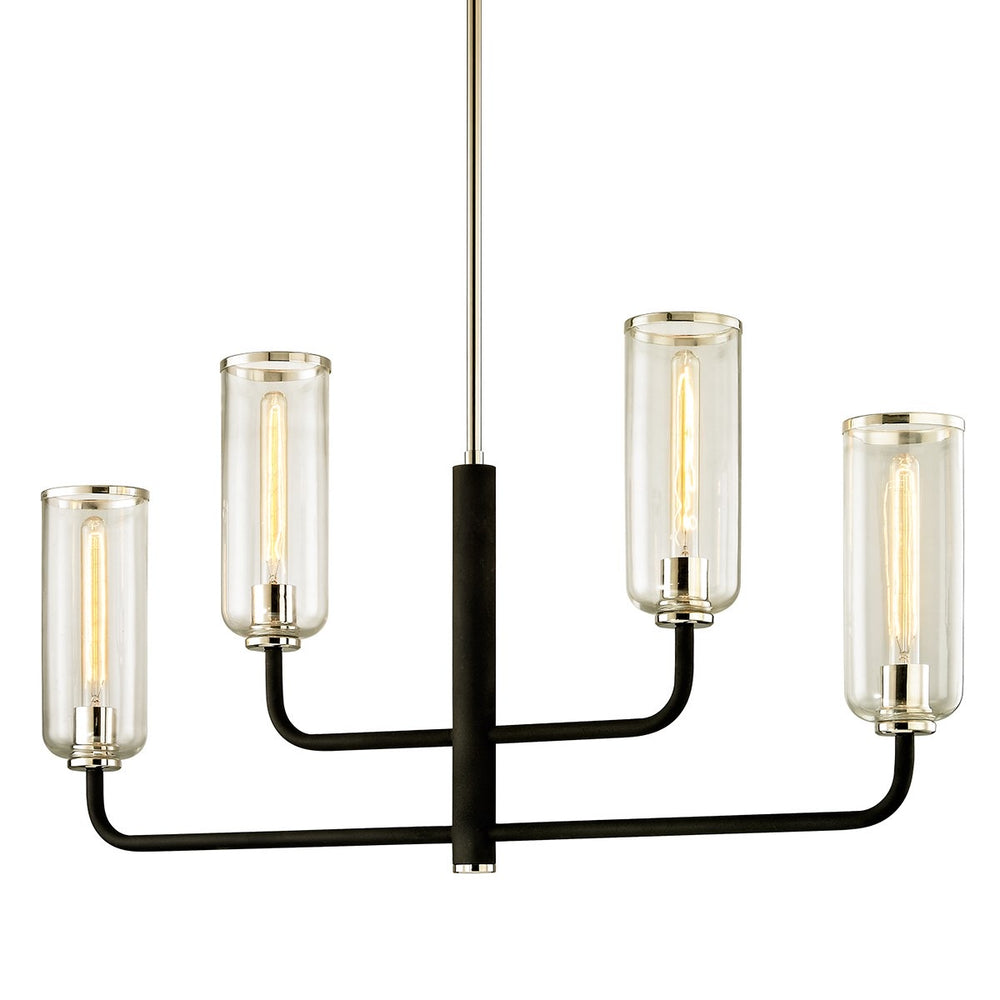 Hudson Valley Aeon Carbide Black And Polished Nickel Ceiling Light