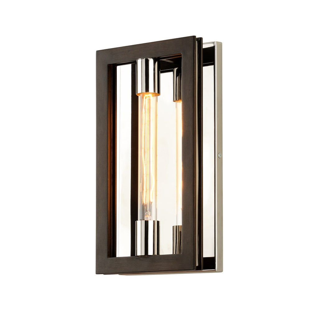 Troy Lighting Enigma Bronze With Polished Stainless Wall Light