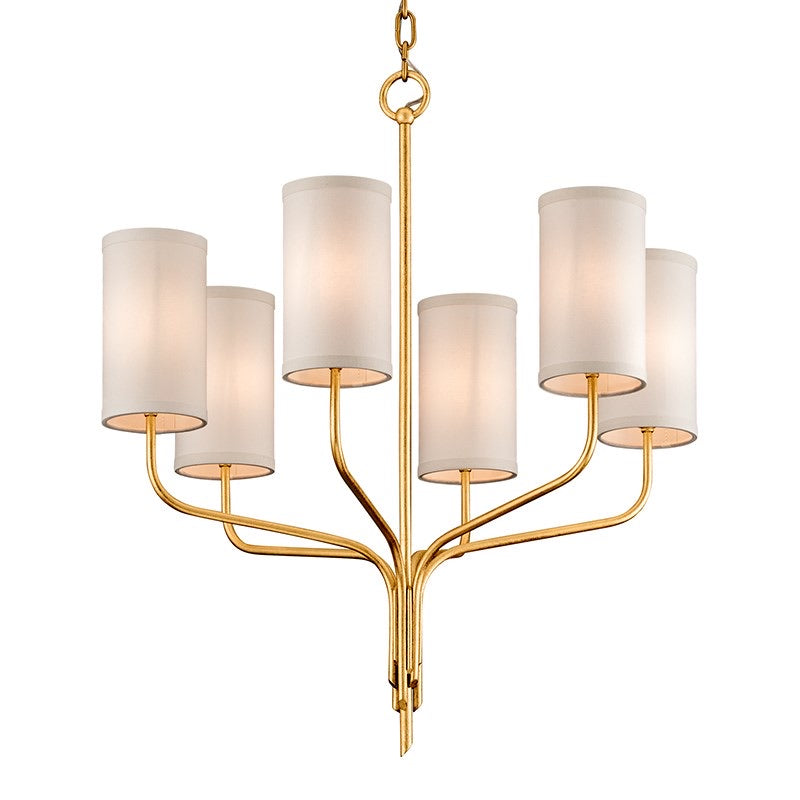 Hudson Valley Juniper Textured Gold Leaf Ceiling Light
