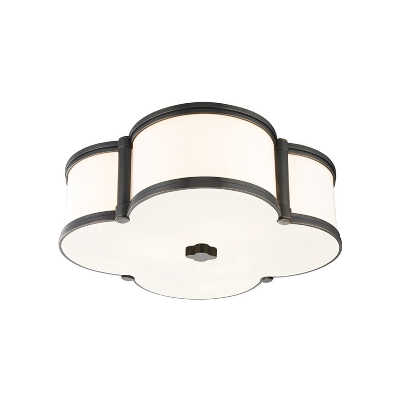 Hudson Valley Old Bronze Chandler Flush Mount Ceiling Light - Decolight Ltd