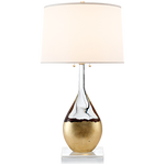 Juliette Table Lamp in Crystal and Gild