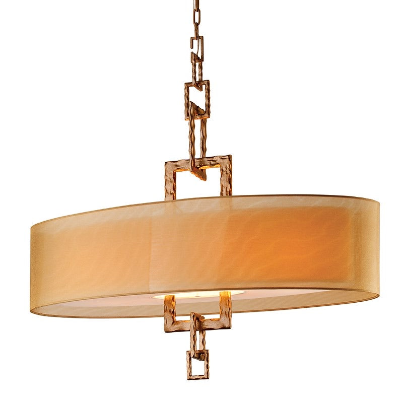 Troy Lighting Link Bronze Leaf Ceiling Light - Decolight Ltd