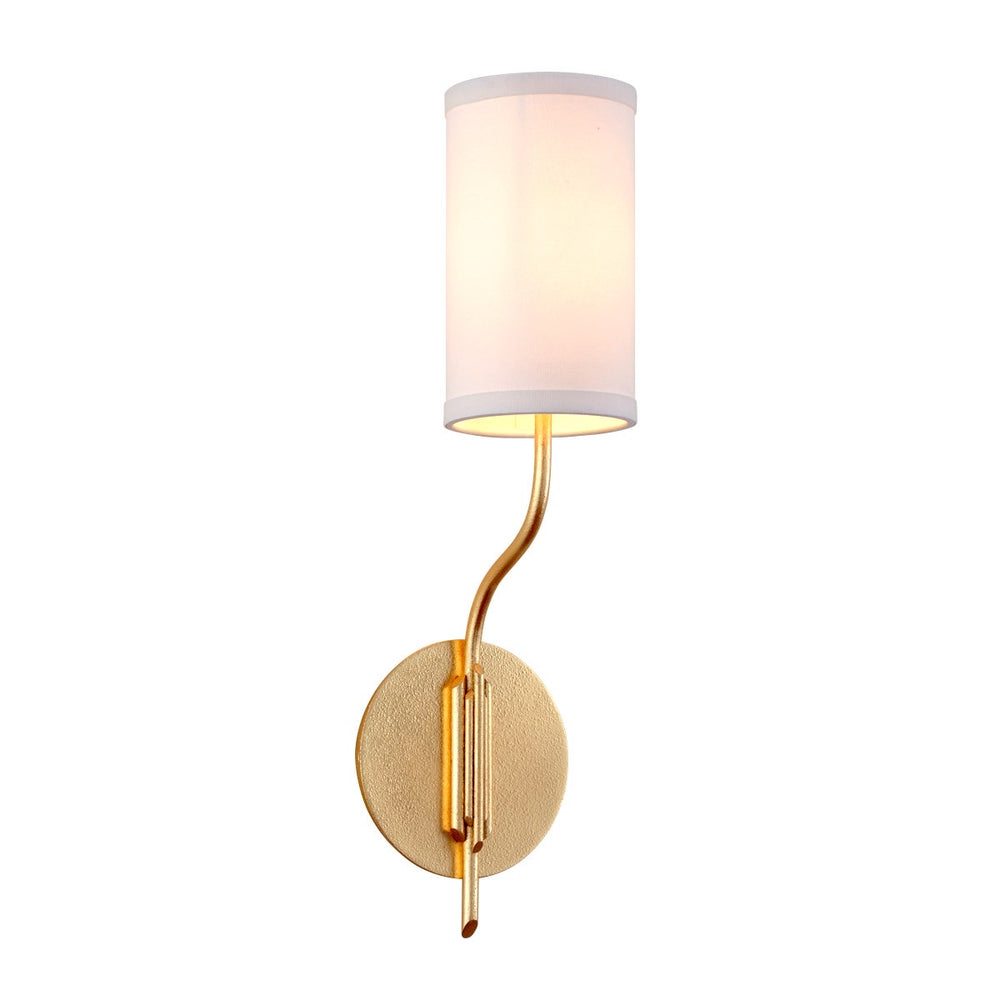 Troy Lighting Juniper Textured Gold Leaf Wall Light