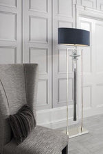 Heathfield Constance Nickel and Sea Jade Floor Lamp *