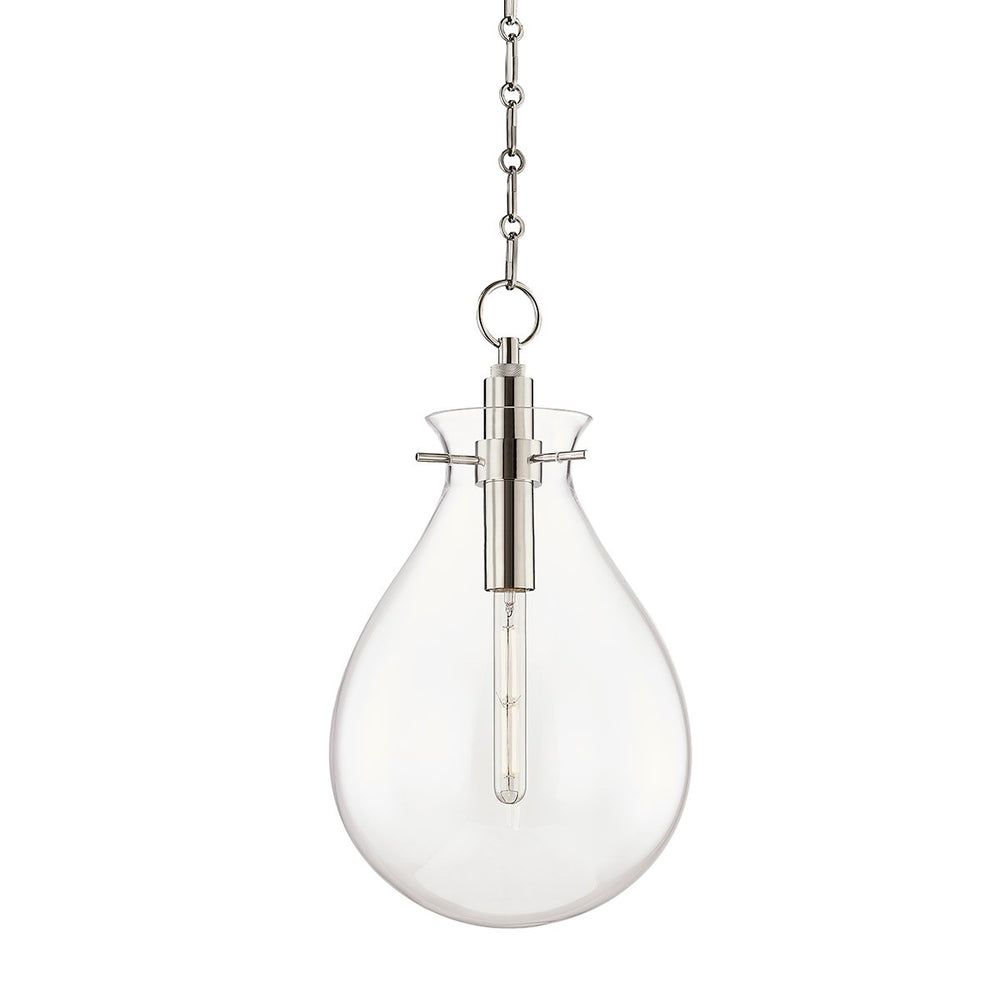 Hudson Valley Ivy Polished Nickel Medium Ceiling Pendant - Decolight Ltd