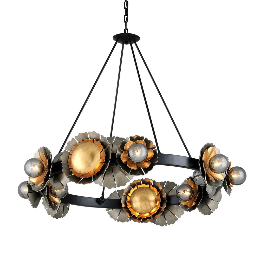 Corbett Lighting Magic Garden Large Black Graphite With Bronze Accents By Martyn Lawrence Bullard Ceiling Light - Decolight Ltd