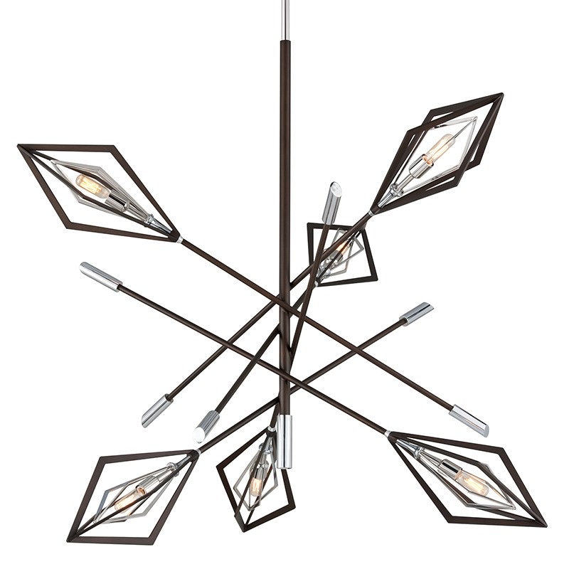 Troy Lighting Javelin Bronze With Polished Stainless Ceiling Light