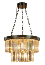 Decolight Round Double Tier Bronze Small Crystalline Chandelier - Decolight Ltd