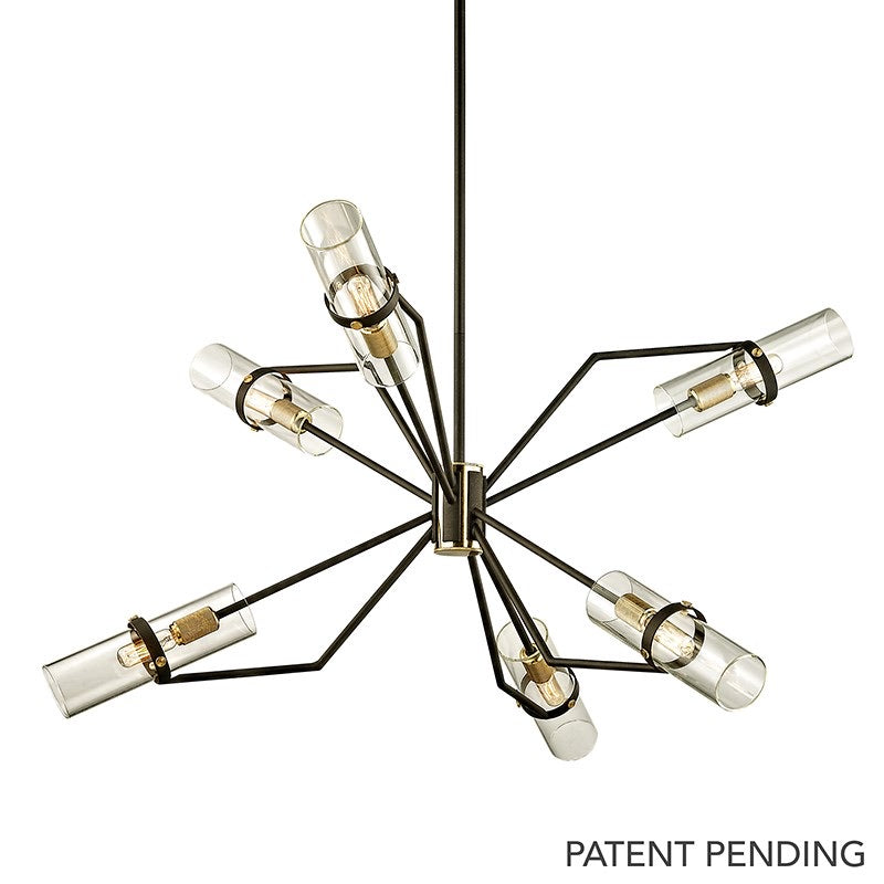 Troy Lighting  Reaf Ceiling Pendant 6 Light ( Small ) - Decolight Ltd