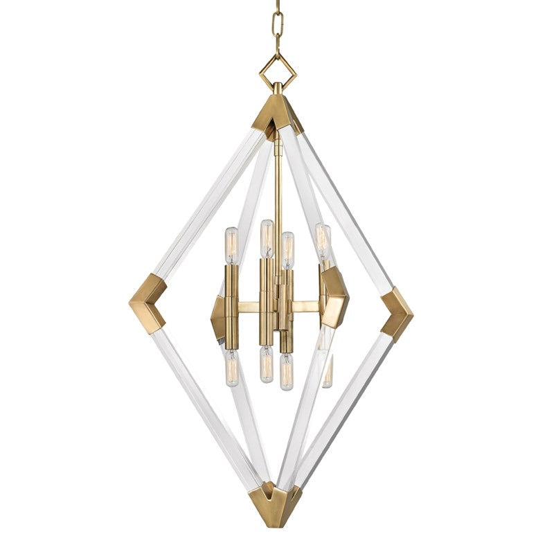 Hudson Valley Aged Brass Large Lyons Ceiling Pendant - Decolight Ltd