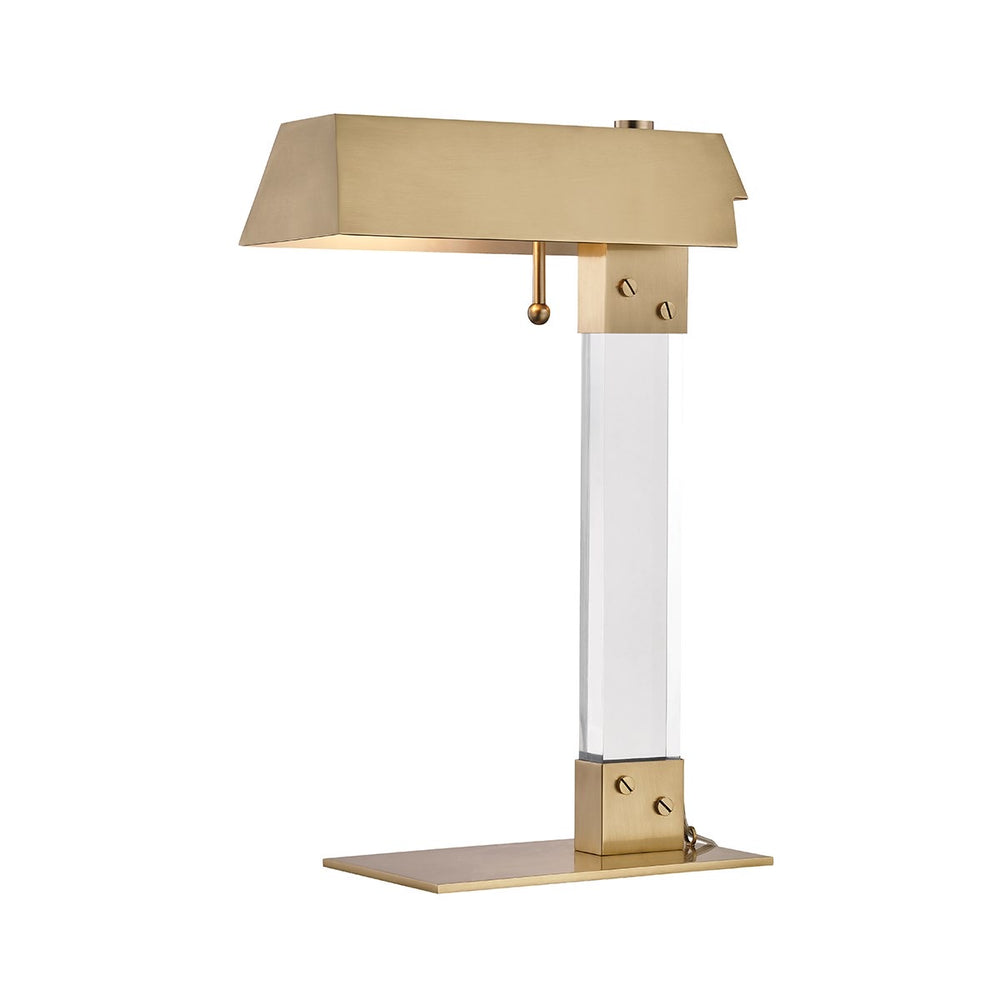 Hudson Valley Aged Brass Hunts Point Table Lamp