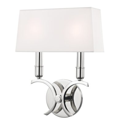 Mitzi Lighting Gwen Polished Nickel Wall Light - Decolight Ltd