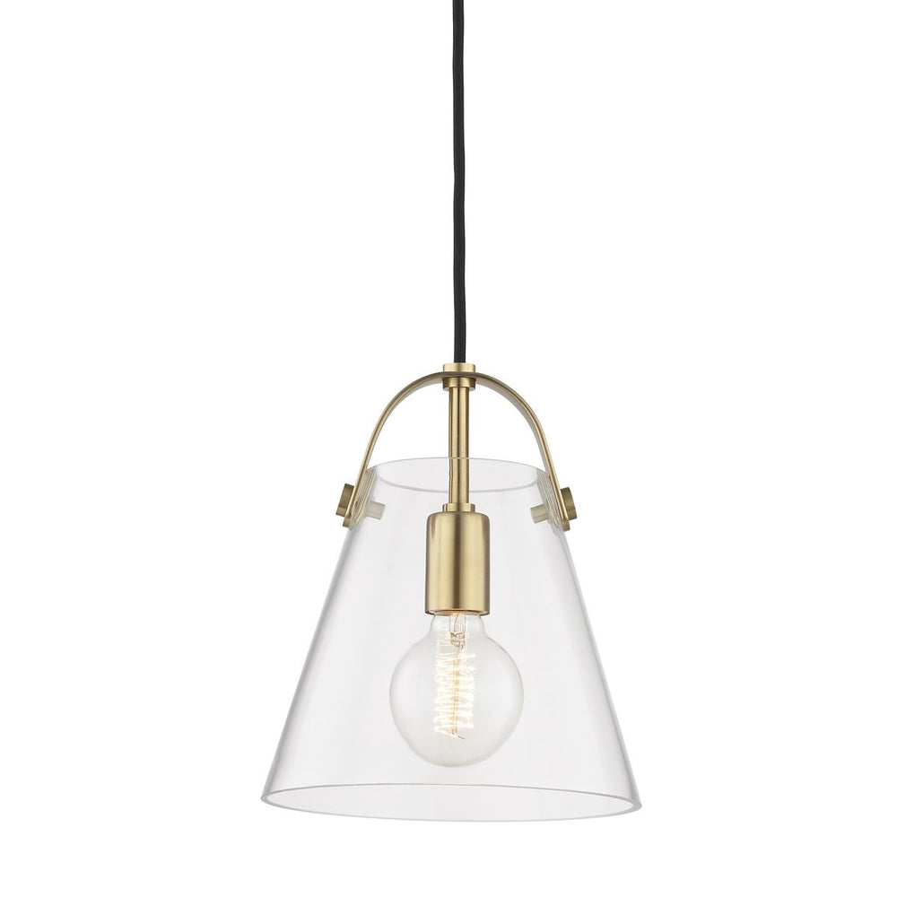 Mitzi Lighting Karen Aged Brass Lantern Ceiling Light - Decolight Ltd
