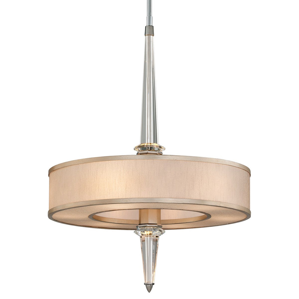 Corbett Lighting Harlow Tranquility Silver Leaf Ceiling Pendant - Decolight Ltd
