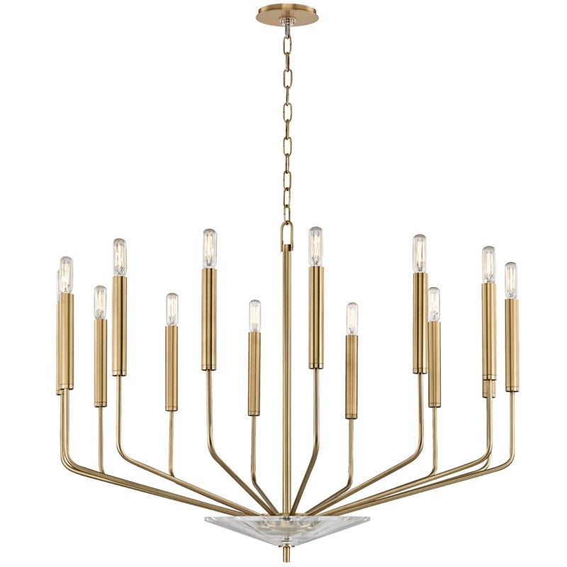 Hudson Valley Aged Brass Gideon Ceiling Light - Decolight Ltd