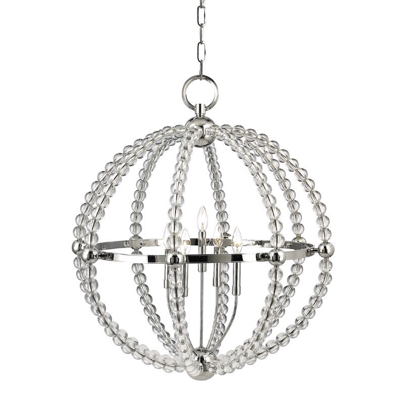 Hudson Valley Large Polished Nickel Danville Ceiling Pendant