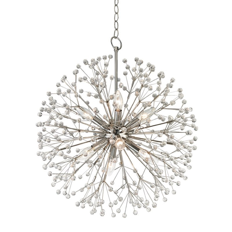Hudson Valley Small Polished Nickel Dunkirk Ceiling Pendant