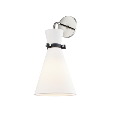 Mitzi Lighting Julia Polished Nickel/Black Wall Light