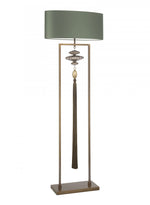 Heathfield Constance Antique Brass & Green Floor Lamp - Decolight Ltd